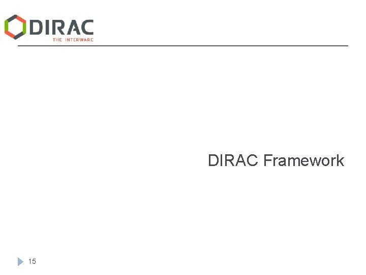 DIRAC Framework 15