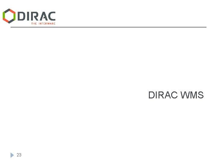 DIRAC WMS 23