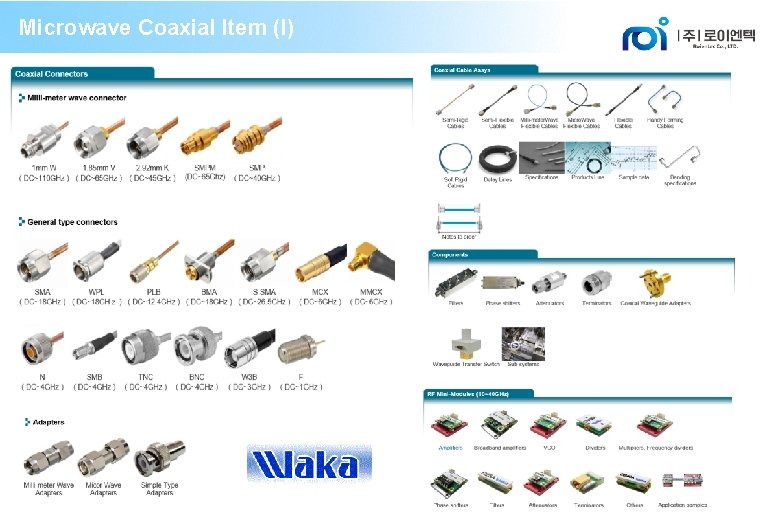 Microwave Coaxial Item (I)