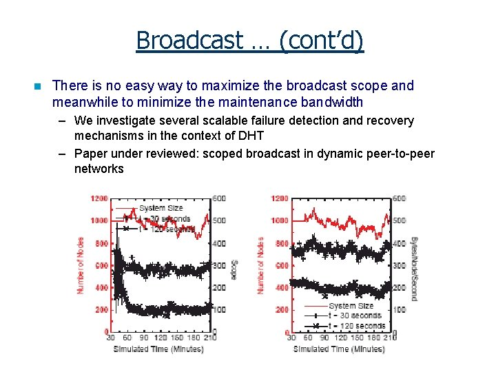 Broadcast … (cont'd) n There is no easy way to maximize the broadcast scope