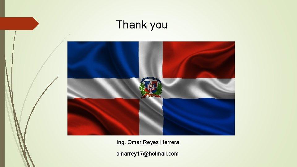 Thank you Ing. Omar Reyes Herrera omarrey 17@hotmail. com