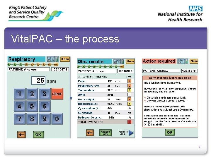 Vital. PAC – the process 9