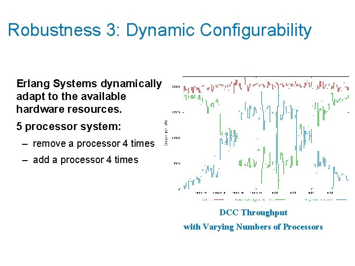 Robustness 3: Dynamic Configurability Erlang Systems dynamically adapt to the available hardware resources. 5