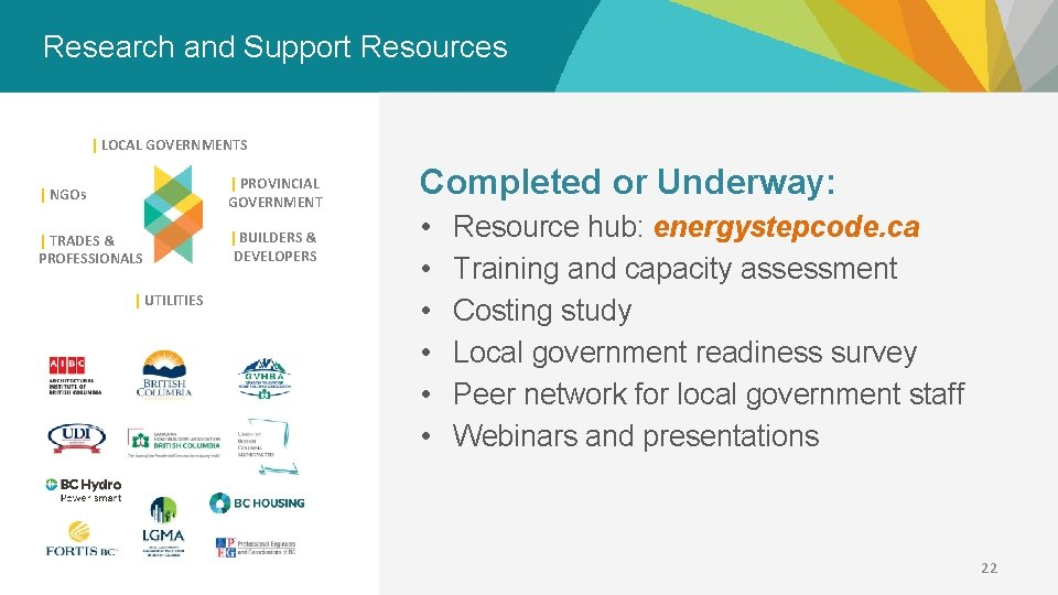 Research and Support Resources   LOCAL GOVERNMENTS   NGOs   PROVINCIAL GOVERNMENT   TRADES