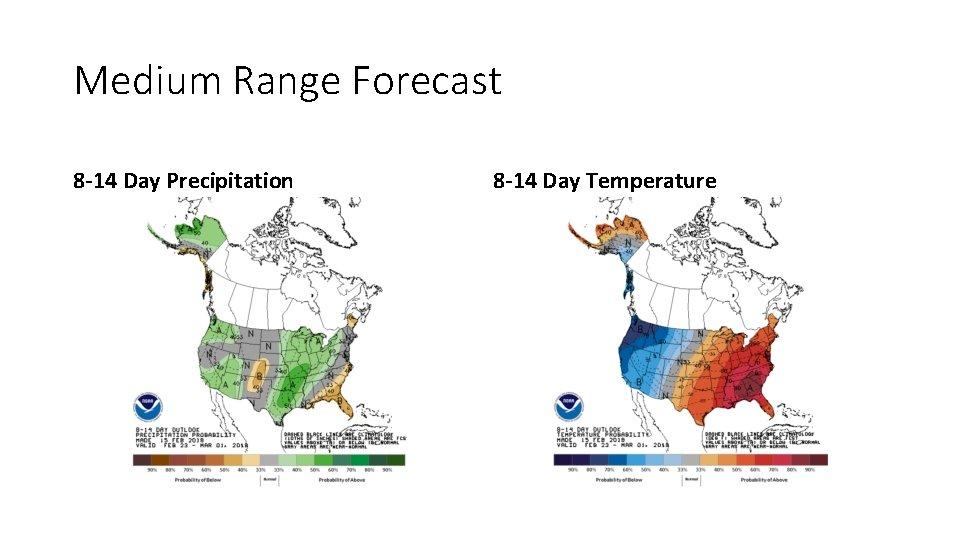 Medium Range Forecast 8 -14 Day Precipitation 8 -14 Day Temperature