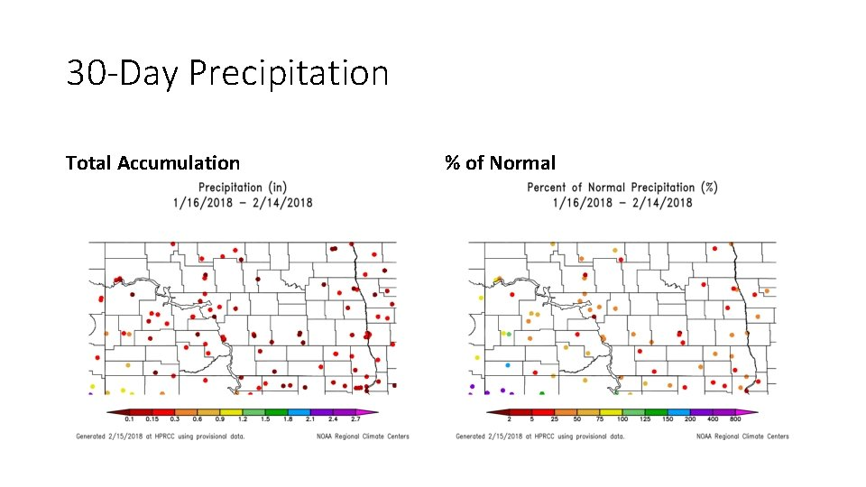 30 -Day Precipitation Total Accumulation % of Normal