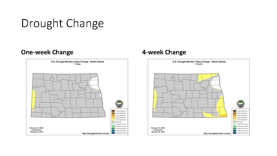 Drought Change One-week Change 4 -week Change