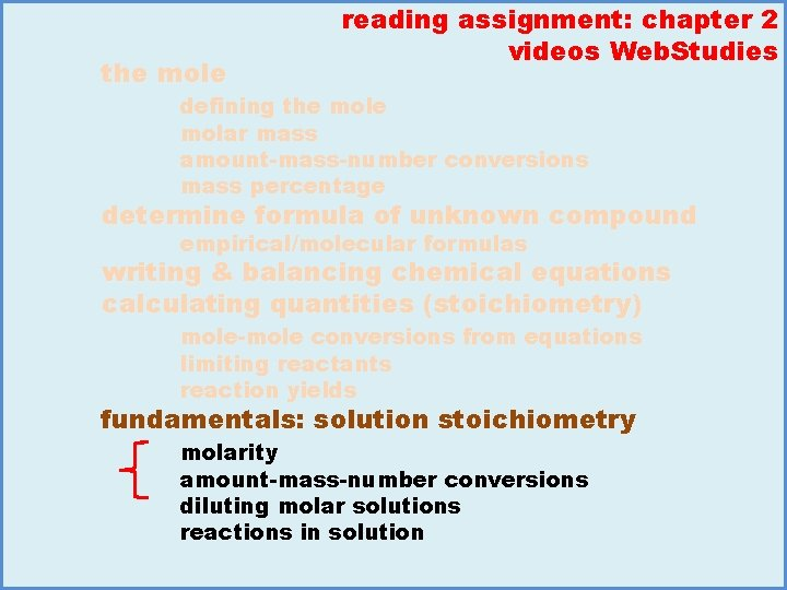 the mole reading assignment: chapter 2 videos Web. Studies defining the molar mass amount-mass-number