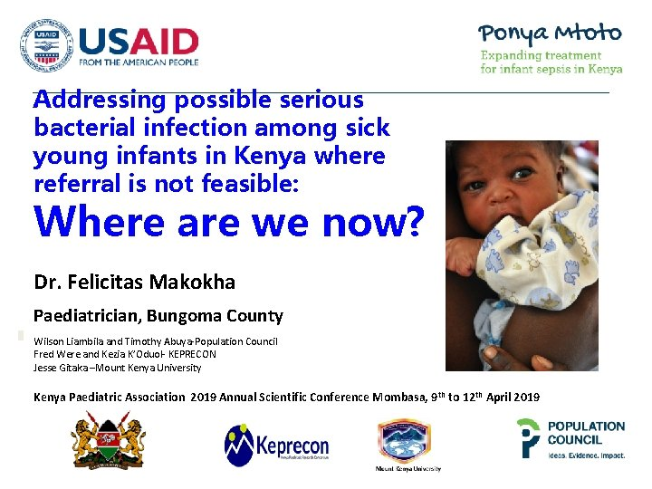 Addressing possible serious bacterial infection among sick young infants in Kenya where referral is