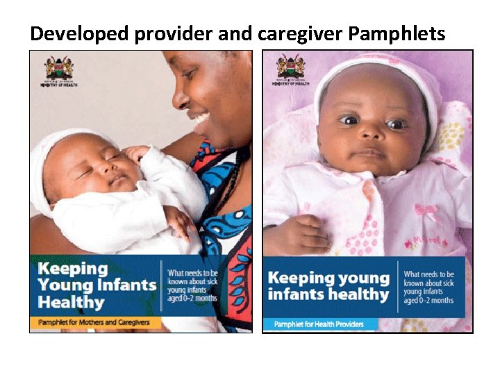 Developed provider and caregiver Pamphlets