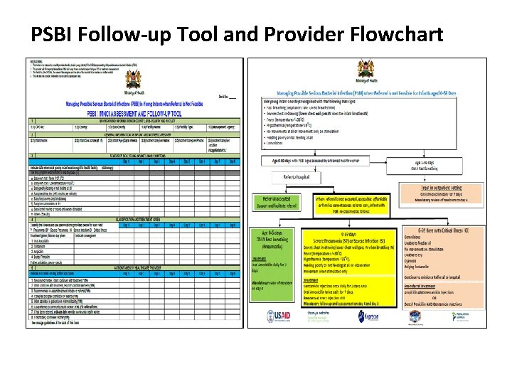 PSBI Follow-up Tool and Provider Flowchart