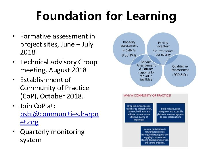 Foundation for Learning • Formative assessment in project sites, June – July 2018 •