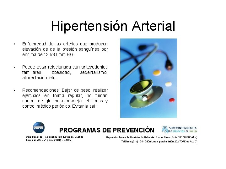 Hipertensión Arterial • Enfermedad de las arterias que producen elevación de de la presión