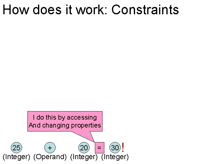 How does it work: Constraints I do this by accessing And changing properties !