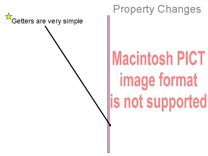 Property Changes Getters are very simple