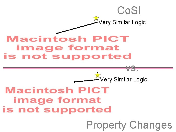 Co. SI Very Similar Logic vs. Very Similar Logic Property Changes