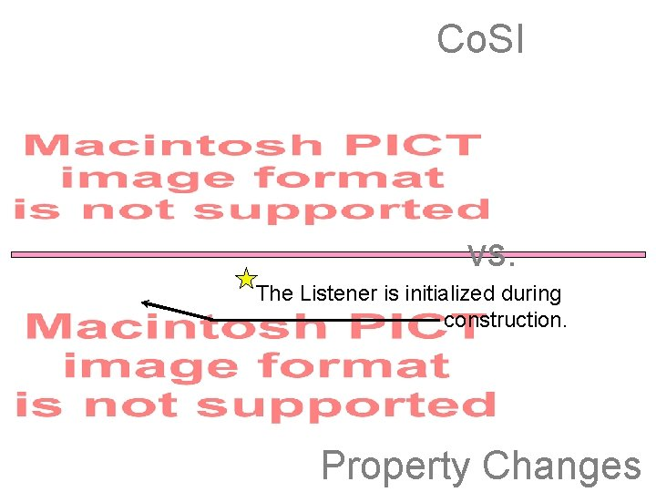 Co. SI vs. The Listener is initialized during construction. Property Changes