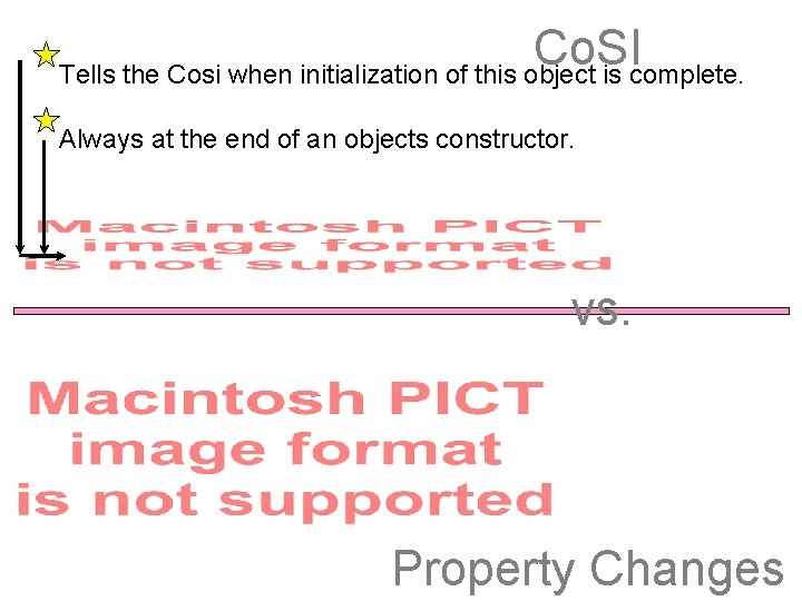 Co. SI Tells the Cosi when initialization of this object is complete. Always at