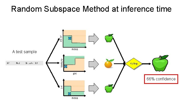Random Subspace Method at inference time A test sample 66% confidence