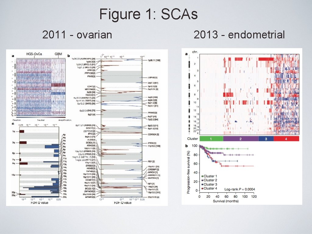 Figure 1: SCAs 2011 - ovarian 2013 - endometrial