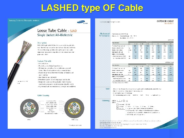 LASHED type OF Cable