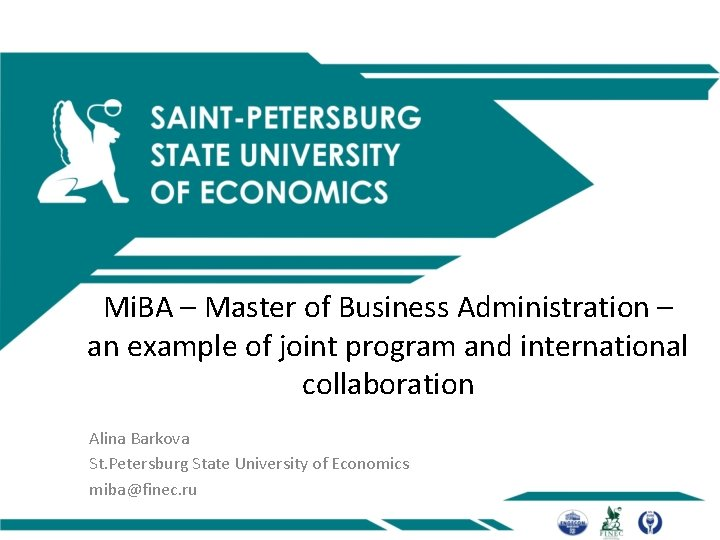 Mi. BA – Master of Business Administration – an example of joint program and