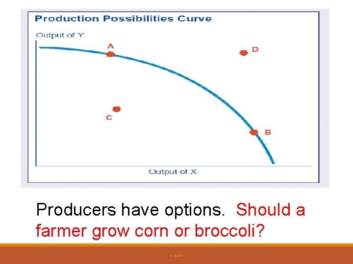 Producers have options. Should a farmer grow corn or broccoli? E. NAPP
