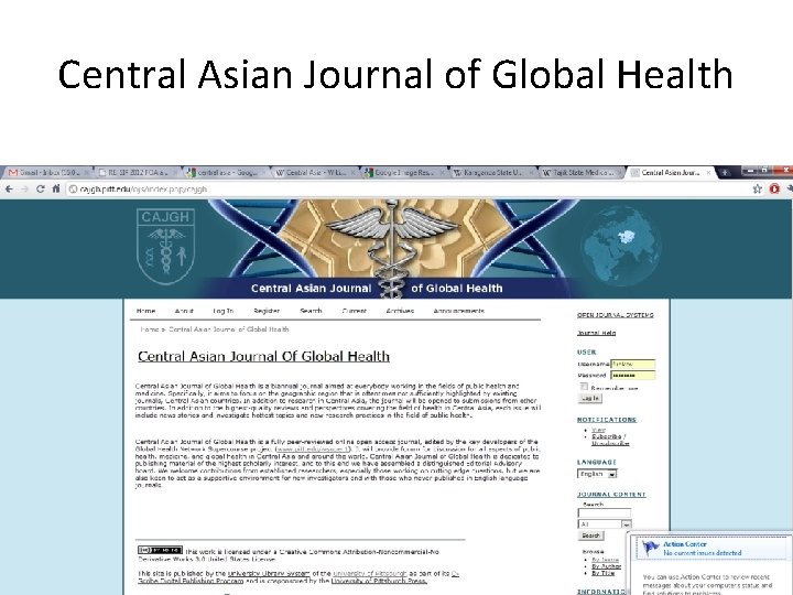 Central Asian Journal of Global Health