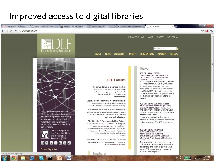 Improved access to digital libraries