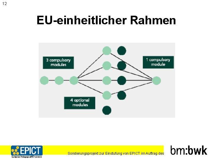 12 EU-einheitlicher Rahmen Sondierungsprojekt zur Einstufung von EPICT im Auftrag des