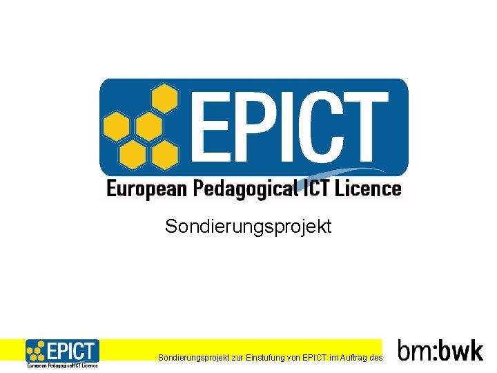 Sondierungsprojekt zur Einstufung von EPICT im Auftrag des