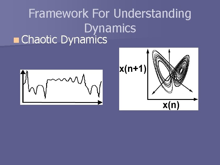 Framework For Understanding Dynamics n Chaotic Dynamics