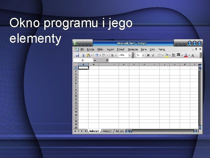 Okno programu i jego elementy