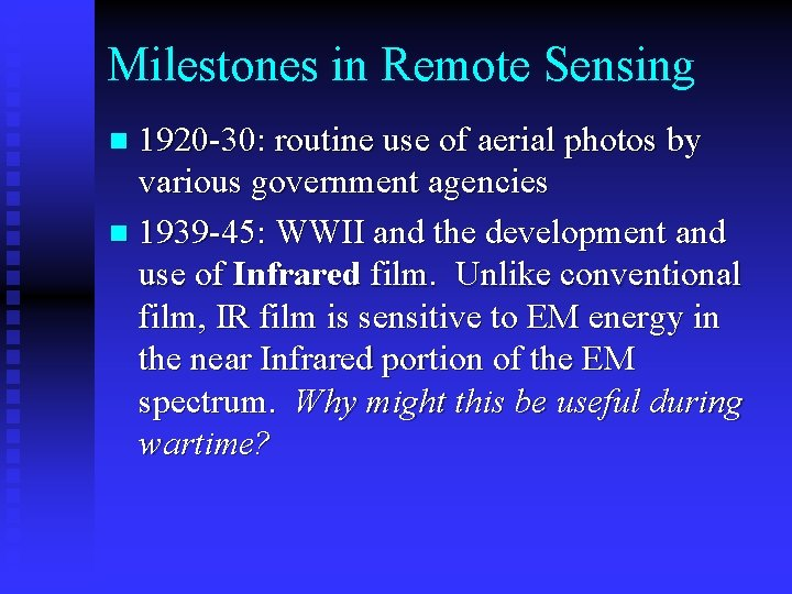 Milestones in Remote Sensing 1920 -30: routine use of aerial photos by various government