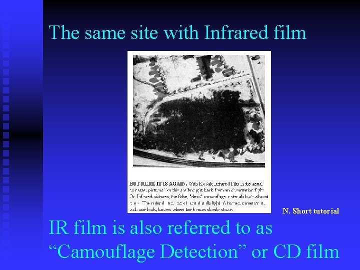 The same site with Infrared film N. Short tutorial IR film is also referred