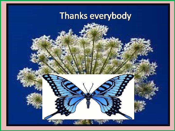 Thanks everybody