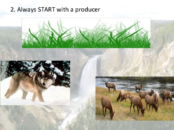 2. Always START with a producer