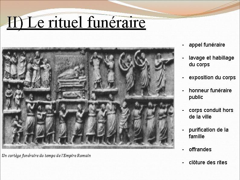 II) Le rituel funéraire - appel funéraire - lavage et habillage du corps -
