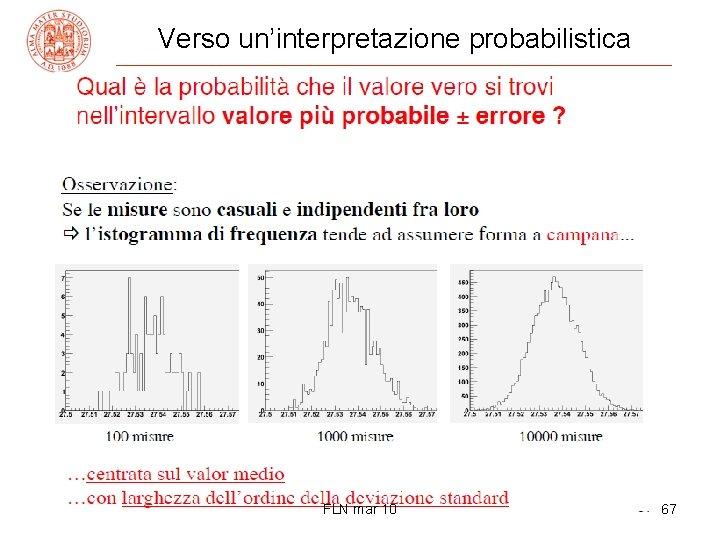 Verso un'interpretazione probabilistica FLN mar 10 67