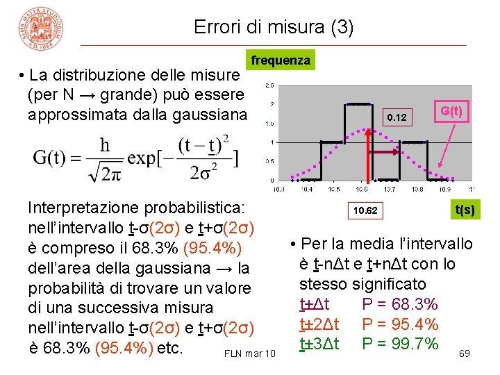 Errori di misura (3) • La distribuzione delle misure (per N → grande) può
