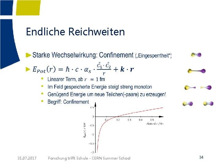 Endliche Reichweiten ► 31. 07. 2017 Forschung trifft Schule - CERN Summer School 34