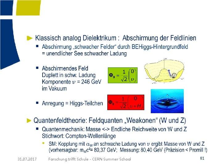 ► 31. 07. 2017 Forschung trifft Schule - CERN Summer School 81