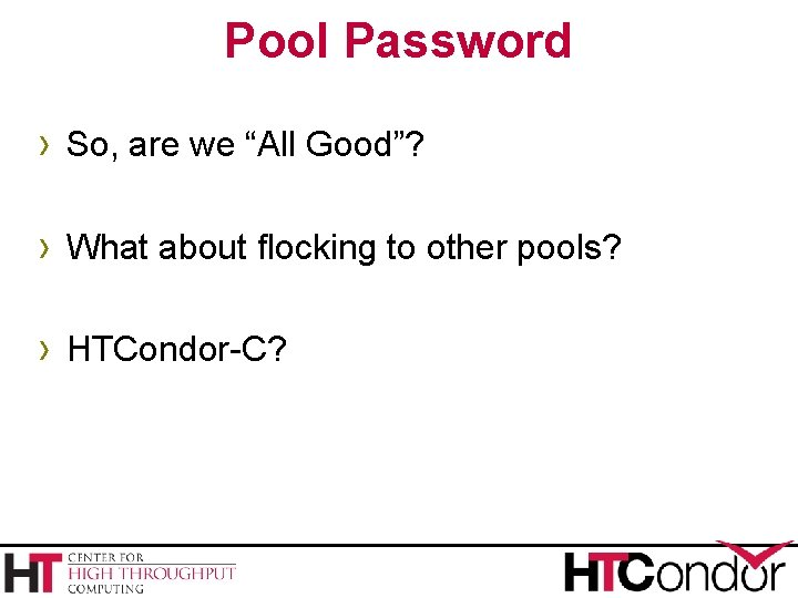 """Pool Password › So, are we """"All Good""""? › What about flocking to other"""