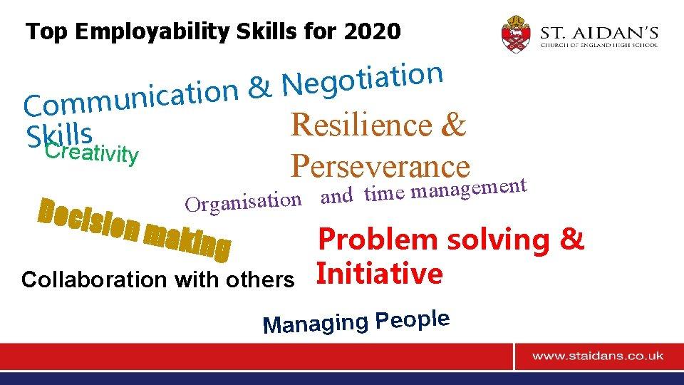 Top Employability Skills for 2020 n o i t a i t o g