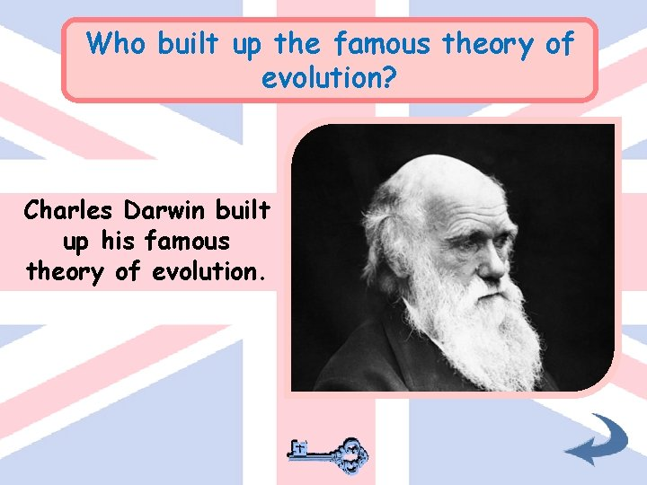 Who built up the famous theory of evolution? Charles Darwin built up his famous