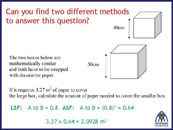 Can you find two different methods to answer this question? LSF: A to B