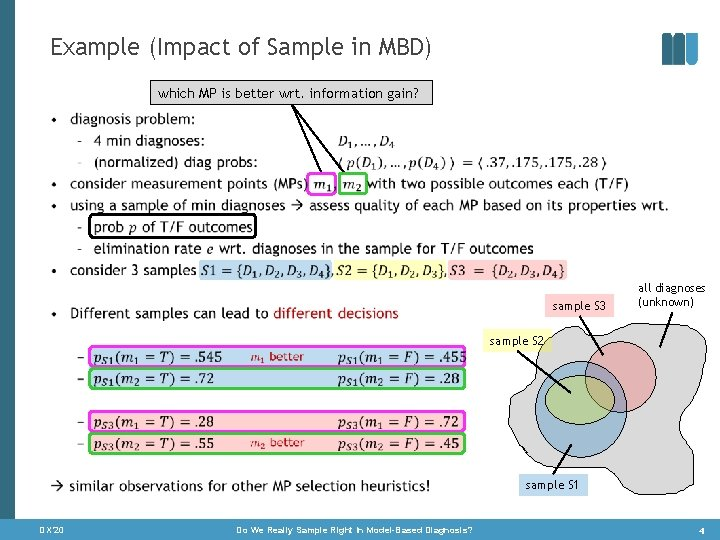 Example (Impact of Sample in MBD) which MP is better wrt. information gain? •