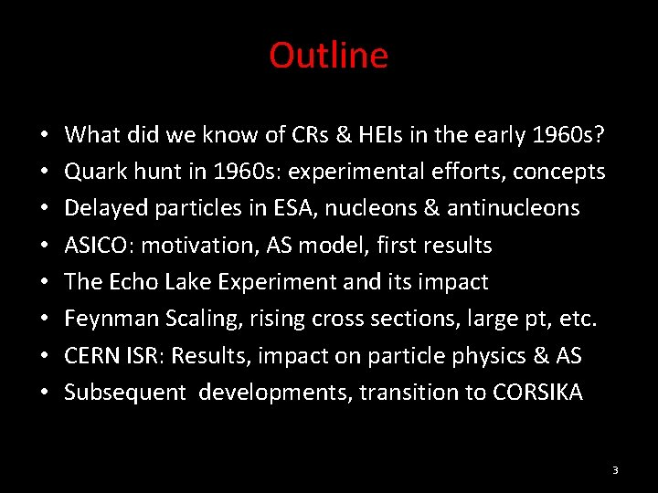 Outline • • What did we know of CRs & HEIs in the early