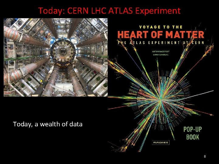Today: CERN LHC ATLAS Experiment Today, a wealth of data 8