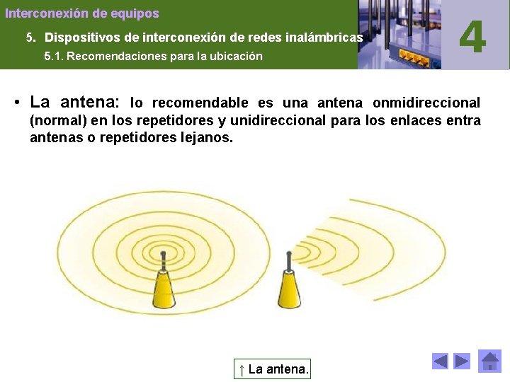 Interconexión de equipos 5. Dispositivos de interconexión de redes inalámbricas 5. 1. Recomendaciones para